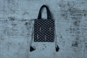 Embroidery Drawstring Bag black 4