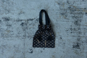 Embroidery Drawstring Bag black 5