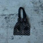 Embroidery Drawstring Bag black