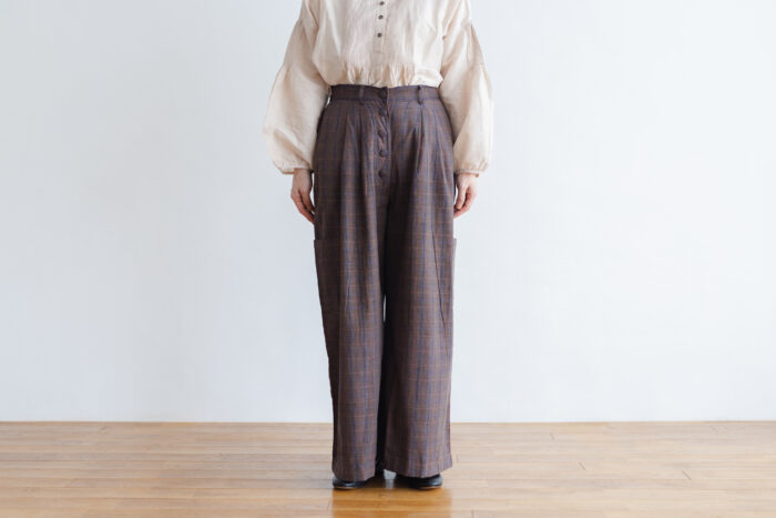 Pocket Wide Pants gray 1