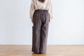 Pocket Wide Pants gray 3