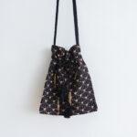 Embroidery Shoulder Bag black