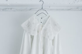 JAMDANI Raffle Collar white 1
