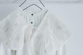 JAMDANI Raffle Collar white 2